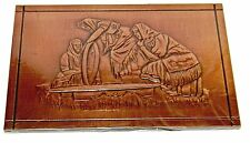 Kosova Belarus Copper Plaque in Cellophane Wrap 3 Women Wearing Ethnic Clothing