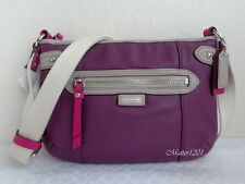 Coach NWT F49516 Daisy Spectator Leather Swingpack Purple Multicolor