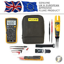 Fluke 117 True RMS Multimeter + T5-1000 + TPAK3 + 1AC + C115 Case