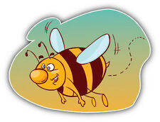 Funny Bee Cartoon Car Bumper Sticker Decal 5'' x 4''