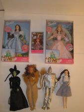 Lot New Talking Wizard of Oz Barbies-Dorothy+ Glinda + new Munchkin,Lion,Witch+