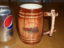 """THE SUPER SKUNK""-- RAILROAD TRAIN, Barrel Shaped Ceramic Coffee Cup / Mug"