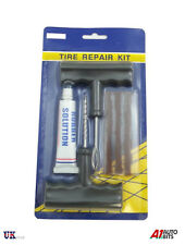 Heavy Duty Tubeless Tire Tyre Puncture Repair Kit Car Van Motorcycle Bike