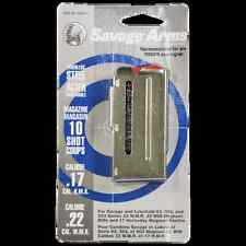 Savage 93 Series Stainless Magazine 10 Round 17 HMR / 22 WMR #90019 NEW