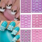 Lots 3D Transfer Lace Design Nail Art Stickers Manicure Nail Polish Decals Tips