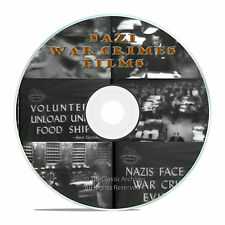 NAZI WAR CRIMES, POST WWII GERMAY NUREMBERG TRIALS US GOVT DOCUMENTARY DVD-J07
