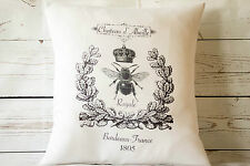 "Chateau Bee - 16"" cushion cover French shabby vintage chic - UK handmade"