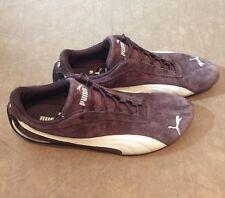 PUMA Women Brown Suede Comfort Running Lace Up Fashion Sneaker Shoe Sz 11 M