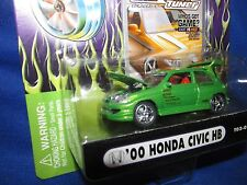 honda civic HB Import tuner Muscle machine funline  honda green 1/64 2000 fast