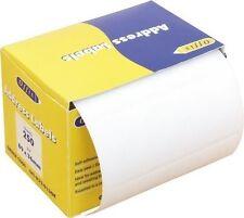 100 Premium Qualità Autoadesivo indirizzo Sticky etichette su un rullo 89 mm x 36mm