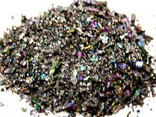 Rainbow carborundum intense rainbow color small/tiny piece inlay 1/4 pound