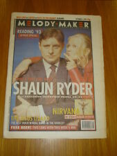MELODY MAKER 1993 SEP 4 SHAUN RYDER NIRVANA NICK CAVE