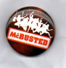 McBUSTED BUTTON BADGE  UK Pop Rock Supergroup  Mcfly & Busted - Air Guitar  25mm