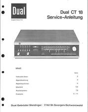 Dual Service Manual für CT 18