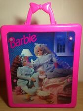 Vintage Barbie Sleepover Slumber Party Carry Case Fold Out Bed And Wardrobe