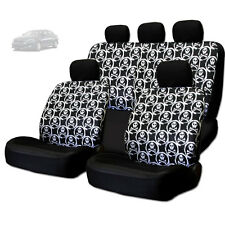 NEW COOL SKULL DESIGN FRONT AND REAR CAR SEAT COVERS SET FOR KIA