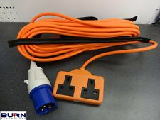 15M ELECTRIC HOOK UP 2W IMPACT RESISTANT SOCKET LEAD CARAVAN CAMPING TENT SITE