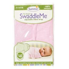 Summer Swaddle Me Baby Girls Pink Cotton Adjustable Infant Wrap S/M 7-14lbs 0-6M