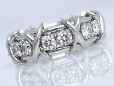 TIFFANY & CO. JEAN SCHLUMBERGER 16 STONE DIAMOND RING PLATINUM SIZE 7 RECEIPT