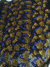 STUNNING ALL OVER HEAVY BLING FLORAL MESH SEQUIN