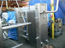"""Crepaco Stainless Steel Heat Exchanger A-2574 w/ 3"""" Ports & 14"""" x 46"""" Plates"""
