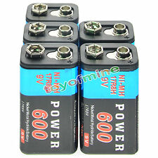 5pcs Durable 9V 9 Volt 600mAh Power Cell Ni-MH ricaricabili blocco PPS