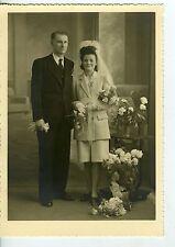 PHOTO circa 1950 / Mariage / WEDDING / robe courte / scène de genre /