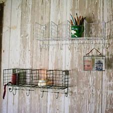Alambre de metal industrial Locker Room Estante De Pared Pantalla de almacenamiento de información Unidad Ganchos cestas