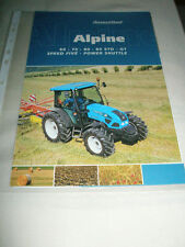 Landini Alpine 60 70 80 85 STD GT Tractor brochure Oct 2007