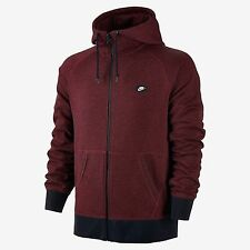 MEN'S NIKE AW77 FRENCH TERRY SHOEBOX FULL ZIP HOODIE TEAM RED 678560-677 SZ 2XL