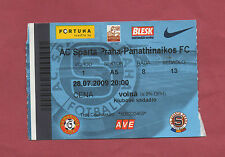 Orig.Ticket   Champions League  2009/10   AC SPARTA PRAG - PANATHINAIKOS ATHEN !