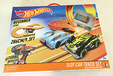 Hot Wheels Slot Car Track Set Beginner Level Big Ages 5+ New Toy Play Boys Girl