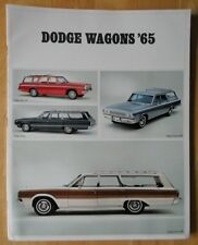 DODGE Wagons orig 1965 large format USA brochure Dart Polara Coronet 440 880