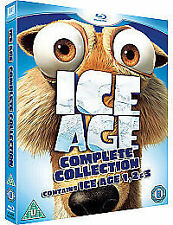 Ice Age 1-3 Collection (Blu-ray, 2009, 3-Disc Set, Box Set) + digital copies
