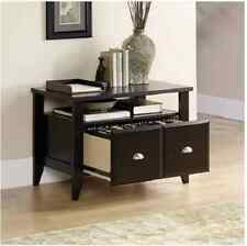 Wooden File Cabinet 2 Drawer Home Office Storage Lateral Utility Printer Stand
