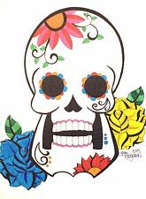 Sugar Skull ACEO Print, Day of the Dead, Dia De Los Muertos Art, Skull ACEO