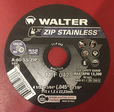 "Walter Zip Stainless 11-F 042, 4.5"", Zip Wheels, Cut-Off Wheel 25 pcs per Box"