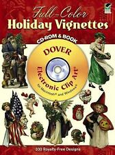 Full-Color Holiday Vignettes CD-ROM and Book (Dover Electronic Clip Art) by Dov