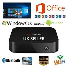 Mini PC Intel Quad Core 1.83GHz Dual OS Windows 10 & Android 4.4 RAM2GB/ROM32GB