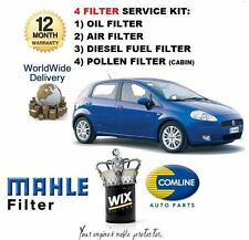 FOR FIAT GRANDE PUNTO 1.3TD JTD 2005-  SERVICE KIT OIL AIR FUEL POLLEN FILTER