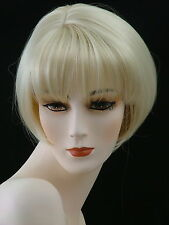 Short Wig Adorable Easy Chic Skin Part     Champagne  Blonde     PU11