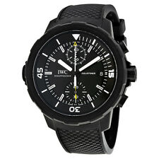 IWC IW379502 Aquatimer Galapagos Islands Chronograph Men Black Rubber Watch New