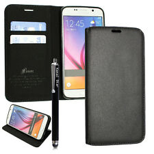 Genuine Real Luxury Wallet Magnetic Flip Leather Case Cover For Samsung iPhone