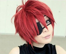 New D.Gray Man Lavi Anime Short Dark Red Cosplay Fashion Wig