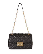 Michael Kors Sloan Chain Extra Large XL Quilted Leather Shoulder Bag (Black)