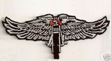 WINGED WHEEL Embroidered Motorcycle MC Club Biker Leather Vest Patch PAT-2039