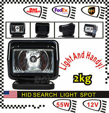 55W 12V HID XENON 360° Magnatic Remote Spot Search Light For Car Boat Fish White