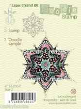 Leane Creatief - Doodle Clear Rubber Stamp - Star 2 - 0157 - Christmas - New Out