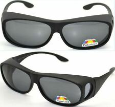 Polarised Over Prescription Glasses Sunglasses UV400 Wrap Around Sun Shields