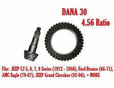 RING & PINION GEAR SET, DANA 30, 4.56 RATIO, 72-86 JEEP CJ, Ford, Volvo D30-456